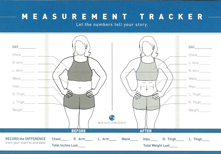 beachbody body measurement chart